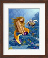 Framed Mermaid and Turtle 2