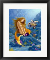 Framed Mermaid and Turtle 2