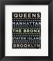 Boroughs 2 Framed Print