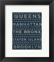 Boroughs 3 Framed Print