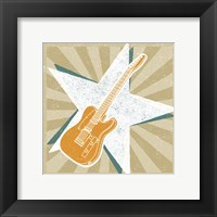 Framed Guitar No. 1 Carnival Style