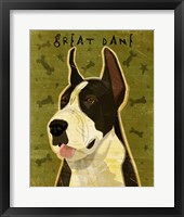 Framed Black Great Dane 1
