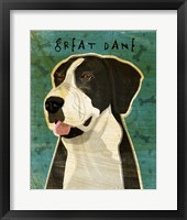 Framed Black Great Dane 2