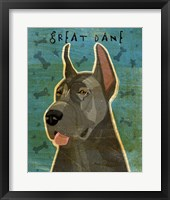 Framed Great Dane Blue