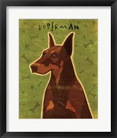 Framed Doberman - Red