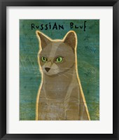 Framed Russian Blue