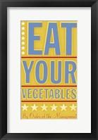 Framed Eat Your Vegetables