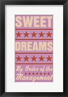 Framed Sweet Dreams - Girl