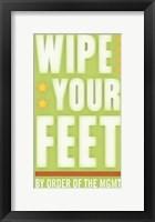 Framed Wipe Your Feet