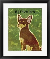 Chihuahua (chocolate and tan) Framed Print