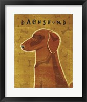 Framed Dachshund (red)