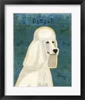 Framed Poodle (white)