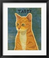 Tabby (orange) Framed Print