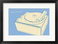 Framed Lunastrella Record Player