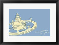 Lunastrella Space Station Framed Print