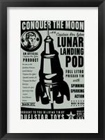 Framed Quelstar Lunar Lander