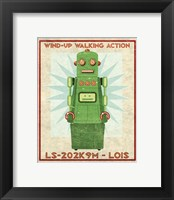 Framed Lois Box Art Robot
