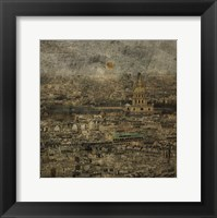 Paris Skyline III Framed Print