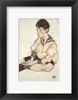 Framed Portrait Of Paul Erdmann In A Sailor Suit