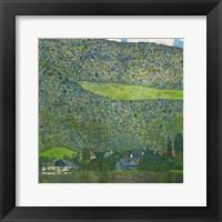Framed Litzlberg on Lake Attersee, Austria. 1915