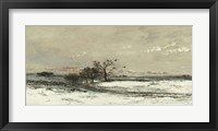 Framed Landscape With Snow And Setting Sun, 1873