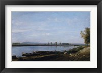 Framed Seine At Bezons, c. 1851