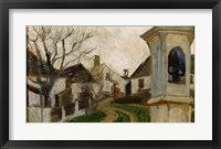 Framed Bare Trees, Houses, and Shrine (Klosterneuburg, Austria)
