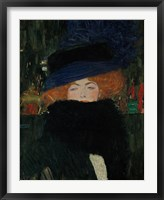 Framed Lady With Hat And Feather Boa, 1909