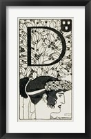 "Framed Initial """"D""""  Used In The Third Issue Of """"Ver Sacrum"""", 1898"