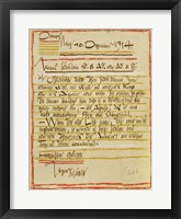 Framed Letter By Egon Schiele To The Sisters Edith And Adele Harms, 1914