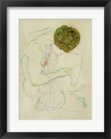 Framed Seated Female Nude, 1914