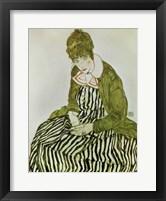 Framed Edith Schiele Seated, 1915