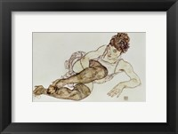 Framed Reclining Woman With Black Stockings, 1917