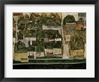 Framed Small City IV  (Krumau On The Moldau), 1914
