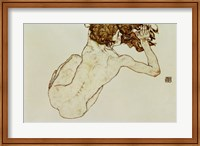 Framed Crouching Nude