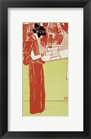 Framed Musik (Stehende Lyraspielerin) - A Woman Playing The Lyre, 1901