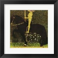 Framed Golden Knight