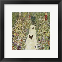 Framed Garden Path with Hens, 1916