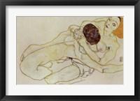 Framed Two Girls (Lovers), 1914