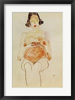 Framed Red Nude, Pregnant, 1910