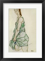 Framed Standing Woman In Green Shirt, 1914