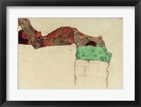 Framed Reclining Male Nude With Green Cloth, 1910