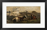Framed Landscape With Cows