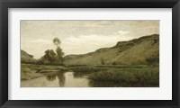 Framed Valley Of Optevoz, 1857