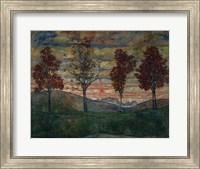 Framed Four Trees, 1917