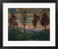 Framed Four Trees, 1917