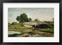 Framed La Vanne D'Optevoz (Isere), 1859