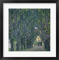 Framed Tree-Lined Road Leading To The Manor House At Kammer, 1912