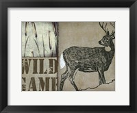Deer with white tail Framed Print