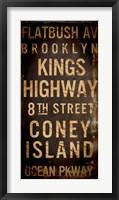 Framed Brooklyn 1